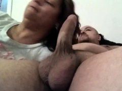 mom-sucks-boyfriends-cock-while-daughter-is-at-the-door
