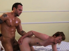 Erotic Ginger Babe Doggystyled After Oralsex