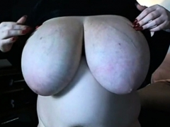 Bbw Dancing With Her Boobs
