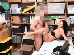 latina woman thief share her cunt with a security man