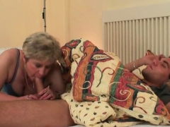 Cock-hungry Motherinlaw Seduces Him