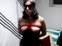 fetish bdsm brunette blowing and screwing