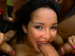 Busty And Dirty Brunette Gets Double Penetration New Porn