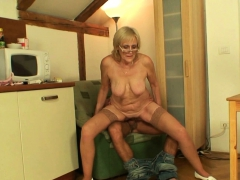 Very Old Skinny Blonde Mother Rides Son-in-law Cock New Porn