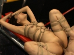 Pretty playgirl removes undies to pose when anal fucking