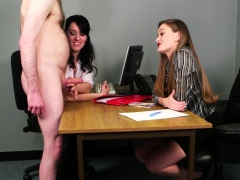 Office Babes Stroking Dick During Cfnm Fetish Porn Video