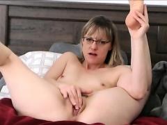 amazing-short-hair-milf-with-glasses-caught-masturbating