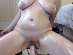 curvy-lady-riding-dildo-hard