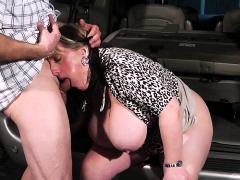 big-tits-woman-at-work-swallows-his-dick