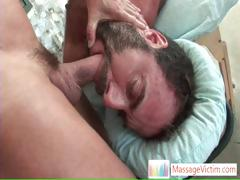 Dodge Wolf Gets His First Gay Massage Part1