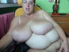 Fat Babe With Huge Tits Having Fun