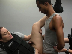 Scrawny Criminal Is Coerced Into Drilling Horny Milf Cops