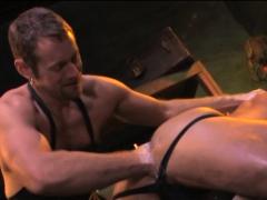 Extreme fisting for randy gay bdsm bear