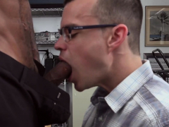 Nerdy Guy With Glasses Gets His Asshole Squashed By Director