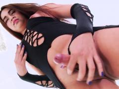 Super sexy Asian ladyboy Ice goes solo masturbation