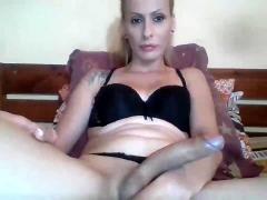 Perfect hot ass tranny solo masturbation