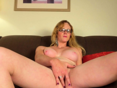 Blonde postop shemale fingers and toys pussy