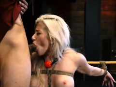 Rough bondage fuck squirt and painful breast Big-breasted