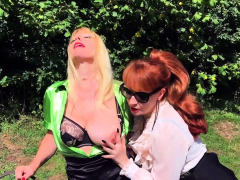 british-redhead-mature-licks-her-hot-girlfriend-outside