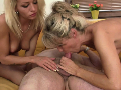 blonde-girl-and-mother-in-law-suck-old-dad-dick