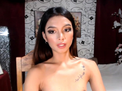 Fit Tranny Jerking Her Super Har Cock