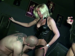 two-german-milf-femdom-slave-and-blackmail-to-eat-own-sperm