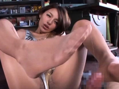 Shlong is good for a good aroused japanese gal Rio's blowjob