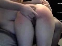 Girl spanked hard
