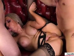 sexy-shemale-blonde-throats-and-barebacked-by-four-big-dicks