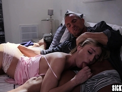 Perverted Big Cock Guy Banged A Sexy Petite Blonde Teen