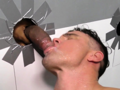 Ebony dude gives facial