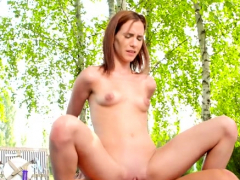 stunning-redhead-nikki-fox-peels-off-her-clothes-outdoors
