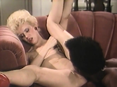 mature blonde makes a huge black cock disappear in her pussy