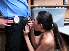 asian babe screwing the officer who caught her shoplifting