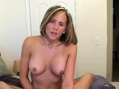 blonde hottie gets nailed and facialed