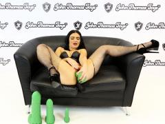 British Pornstar Enjoys Massive Dildo by John Thomas Toys