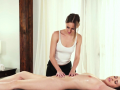Lesbian Masseuse And Teen Eat Out And Finger