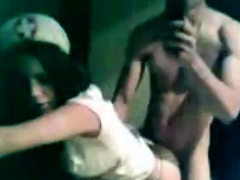 Italian Girls Dressed As A Nurse Gets Fuckeds From Behind