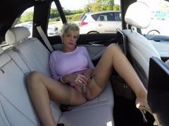 Busty Mature Lady Sonia Masturbates In Her Car