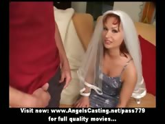 Redhead Milf As Bride Does Blowjob For Big Guy In Front Of