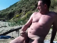 long-slow-exhibitionist-cock-show-on-the-public-beach