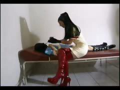 Horny Domina Loves Torturing Her Slave