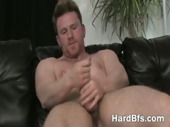 Muscled Man Playing With His Big Dick