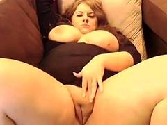 Bbw fat chick strips on webcam