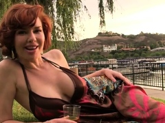 hungarian-redhead-milf-srilled-outdoor