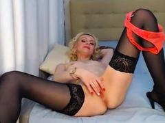 Stockings amateur mature slut in heels