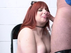 big titted mature redhead gets dominated and nailed by an officer Hot