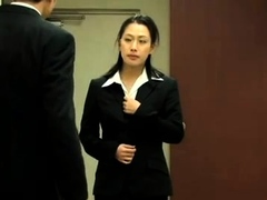 Flirty Asian milf exposes her nice ass in lingerie