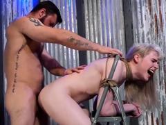 TRANSEROTICA TiedUp Lianna Lawson Fucks Stud And Sex Machine