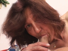 horny old mother-in-law rides his cock